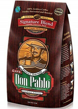 Cafe Don Pablo Signature Blend Whole Bean Coffee