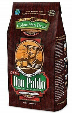 Cafe Don Pablo Swiss Water Process Whole Bean Decaf Coffee