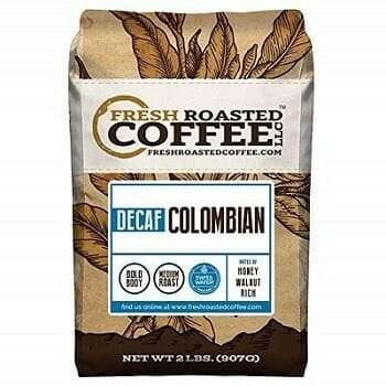 Fresh Roasted Coffee Swiss Water Whole Bean Decaf Coffee