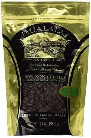Hualalai Estate Medium Dark Roast Whole Bean 100% Kona Coffee