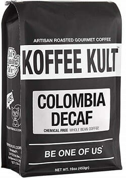 Koffee Kult Colombian Whole Bean Decaf Coffee