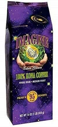 Kona Coffee Medium Dark Roast Whole Bean by Imagine