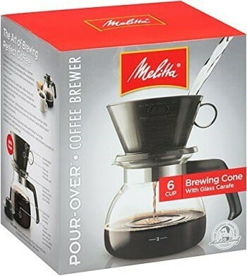 Melitta Pour Over Coffee Maker with Glass Carafe