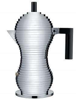 "Alessi MDL02/6 B""Pulcina"" Stovetop Espresso Maker"