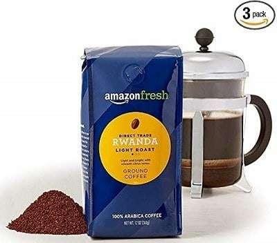 AmazonFresh Direct Trade Rwanda Light Roast Coffee (Ground)