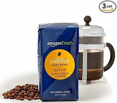 AmazonFresh Direct Trade Rwanda Light Roast Coffee (Whole Bean)