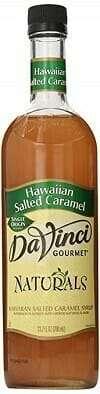 DaVinci Gourmet Naturals Syrup Hawaiian Salted Caramel