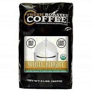 Fresh Roasted Coffee Organic White Knight Light Roast Coffee