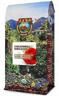 Java Planet Colombian USDA Organic Low Acid Coffee Bean