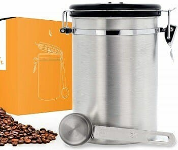 Kitchables Airtight Coffee Canister with Scoop