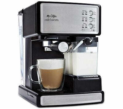 Mr.Coffee BVMC-ECMP1000-RB Barista Espresso and Latte Machine