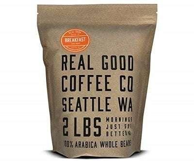 Real Good Coffee Company Breakfast Blend Light Roast Coffee