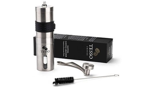 Tesso Coffee Stainless Steel Manual Coffee Grinder