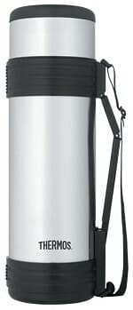 Thermos Beverage Bottle with Folding Handle
