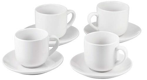 Bruntmor Espresso Cups with Saucers