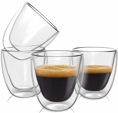 Evaryl Double Wall Espresso Cup Set