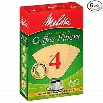 Melitta Natural Brown Cone Coffee Filter
