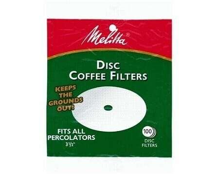 Melitta White Disc Coffee Filter