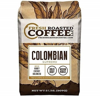 Fresh Roasted Coffee Whole Bean 100% Colombian Coffee