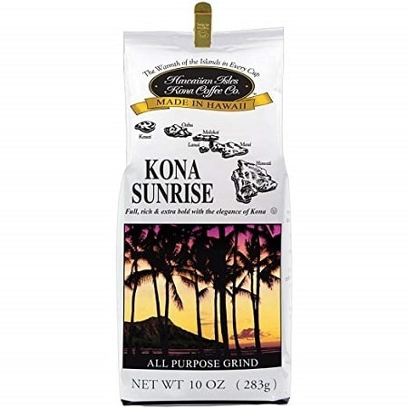 Hawaiian Isle Kona Sunrise Ground Coffee