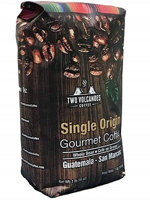 Two Volcanoes Coffee Gourmet Whole Bean Guatemalan Coffee